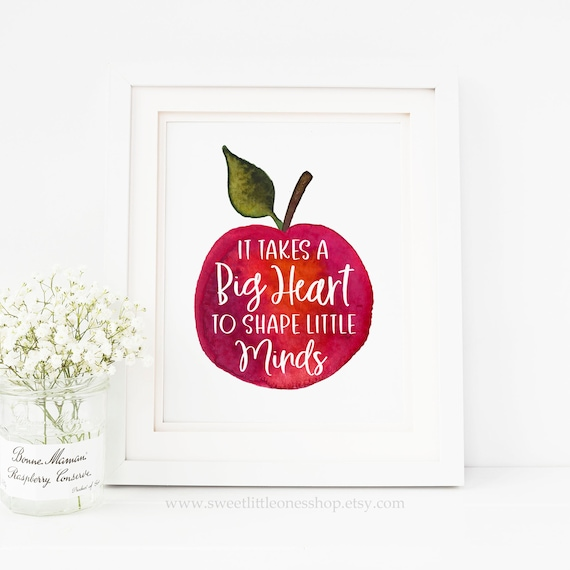 photo about It Takes a Big Heart to Shape Little Minds Printable referred to as It Usually takes a Large Middle in the direction of Form Small Minds Printable Wall Artwork Apple Can take A Huge Center Form Minimal Minds Print Instructor Reward Instructor Print