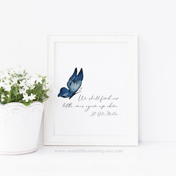 Miscarriage Sympathy Quote Printable Pregnancy Infant Loss Printable  Miscarriage Sympathy Print We Shall Find Our Little Ones Again Up Above