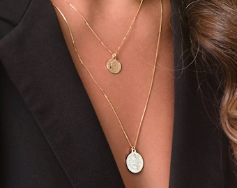 Coin Necklace, Gold Coin Necklace, Minimalist Jewelry, Everyday Necklace, Gold Necklace, Everyday Jewelry Gold, Layered Necklace.