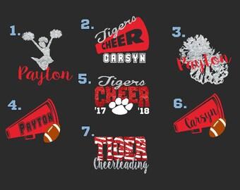 Highschool Initials Cheerleader Cheer Wall Car Vinyl Decal