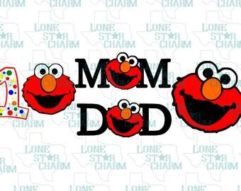 Elmo 1st Birthday SVG Set
