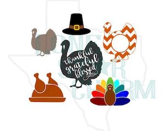 Thanksgiving Turkey Digital SVG Files
