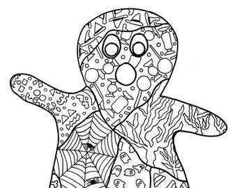 PDF Printable Colouring Page: Ghost