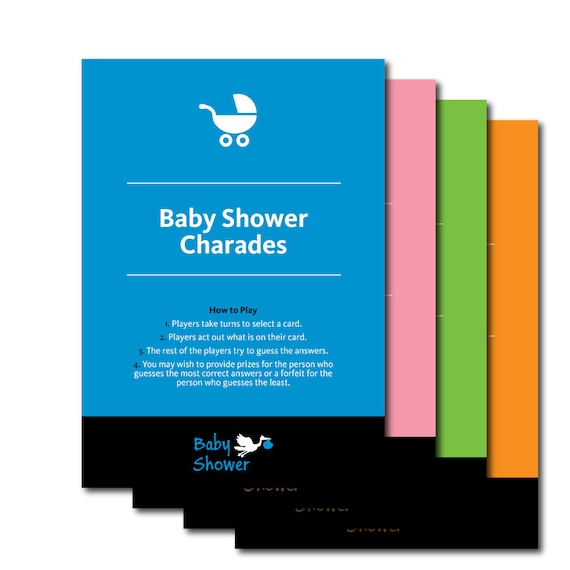 Baby Shower Charades Fun Printable Charade Baby Shower Game Etsy