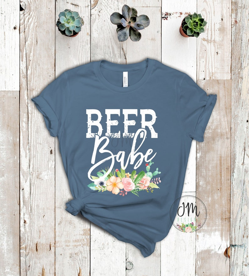 00f28f3b4d2 Beer Babe T-Shirt, Beer Babe Boho Tee, Cute Women's Tee, Gift for Her,  Unisex Women's Tee, Bella Canvas Tee for Her