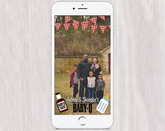 Baby- Q Custom SnapChat Filter - barbecue Baby shower Geofilter - summer barbecue baby SHOWER snapchat