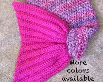 Mermaid Tail, Crochet Mermaid Tail Blanket, Chunky Mermaid Tail Blanket,  Kids Mermaid Blanket, Adult Mermaid Blanket, Baby Photo Prop,