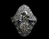 ANTIQUE DIAMOND RING-3600ja4532