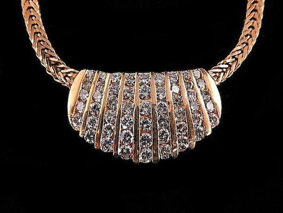 DIAMOND CHANNEL NECKLACE - 1054JA1191