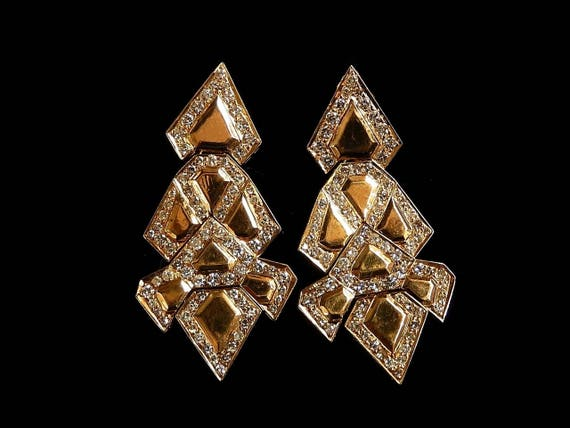 CHANDELIER DIAMOND EARRINGS - 1032JA1368