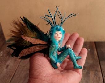 Sculpture - Fairy - Teeny Tiny Fairy - Fairy Sculpture - OOAK Fairy - Fairy Doll - Art Doll - Forest-Fairy -Fairy Gift - Meditation