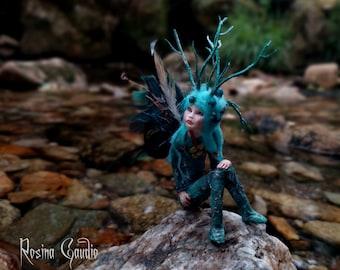 Sculpture - Flower Fairy - Teeny Tiny Fairy - Fairy Sculpture - OOAK Fairy - Fairy Doll - Art Doll - Forest-Fairy -Fairy Gift - Meditation