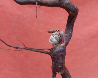 Root Sculpture - Botanical Art-OOAK-   Whimsical - woodland creature, woodlovers, magical forest fairy, wood spirit, forest soul