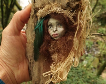 Sculpture - Walldecor -  Healingart - Nature-Art - Gift for Nature-lovers - facesculpture - gift for her