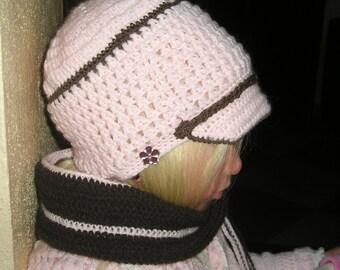 Gorra y bufanda a juego para niña de 3 a 5 años 5421e941817