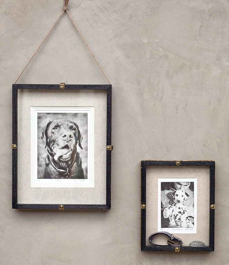 For Pet Lovers. Greyboy Pet Prints Dog Portrait Pet Etching Vintage Dog Etching Pet Memorial Small Portrait Custom Pet Portrait