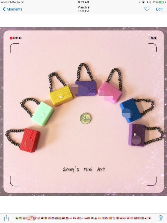 Sac à main de luxe en miniature   sac à main miniature     Etsy 2eedc93b981