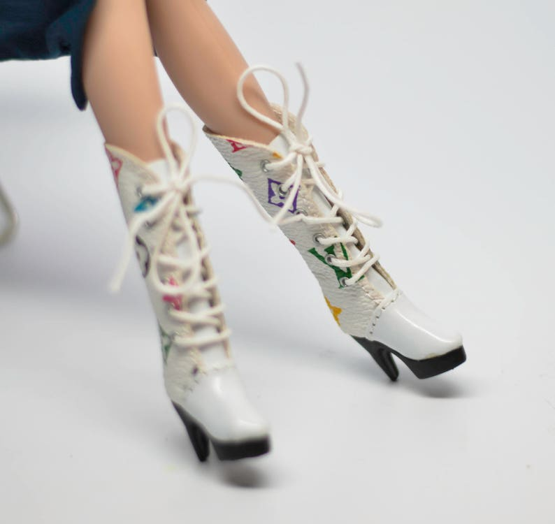 3dbd11d1920f White Boots for Blythe  Blythe Shoes  Barbie Boots  Silkstone