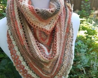 Crochet shawl or wrap