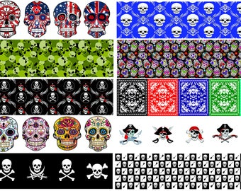 Skull Pick Strip Set of 20 - Use with Guitar Pick Punchers