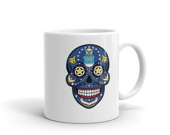 Sugar Skull United States Air Force Mug