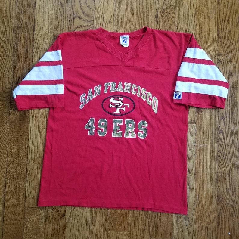 74043a18f Vtg 90s San Francisco 49ers Jersey Shirt by Logo 7 Vintage   Etsy