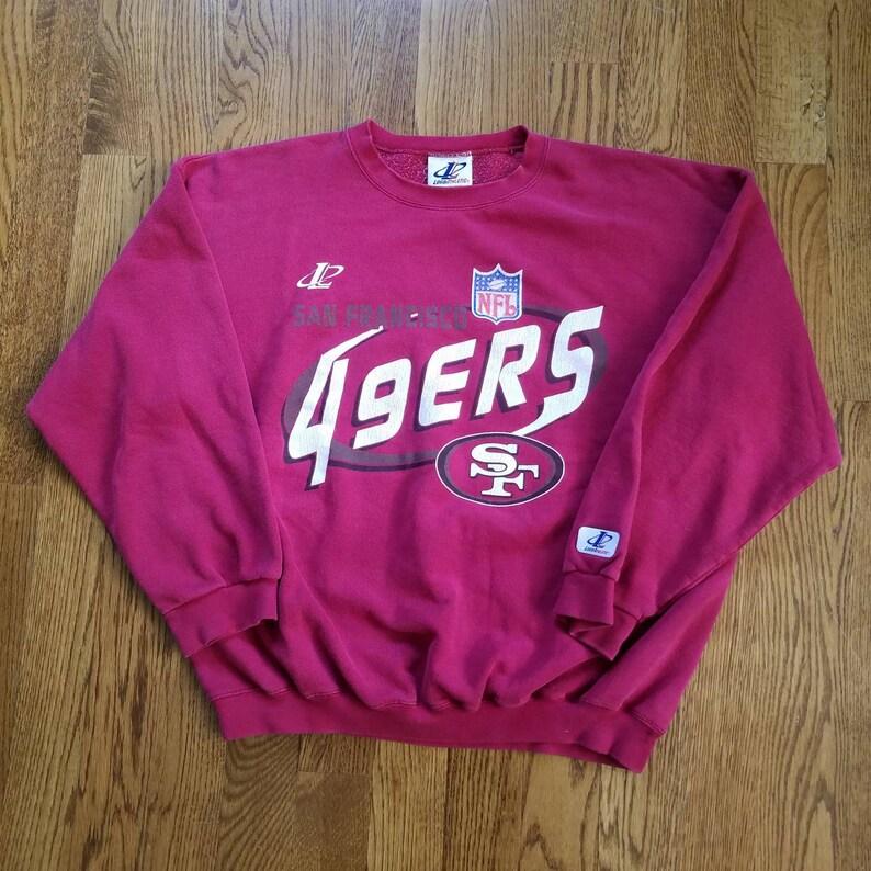 5c09ce94e Vtg 90s San Francisco 49ers Crewneck Sweatshirt by Logo   Etsy