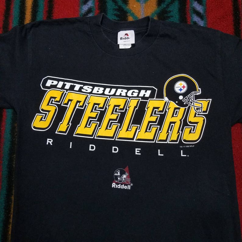 8841797c Vtg 1998 Pittsburgh Steelers T Shirt by Riddell Vintage | Etsy