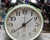 Large Retro Alarm Clock, Soviet Russian Alarm table Working Clock JANTAR YANTAR Vintage 4 jewels USSR 2 Bells servized and oiled work great