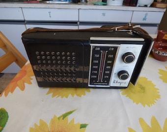 vintage ussr  QUARZ 404 radio LW MW soviet leather  case Vintage Quartz Radio Ussr 1970 Portable Mw 401 Lw Soviet Rp 309 406 Tento Sw