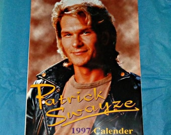 Extremely Rare Patrick Swayze 1997  Unofficial Oliver Books Calendar Film Memorabilia Hard To Find Full Page Photos Vintage Collectable A3