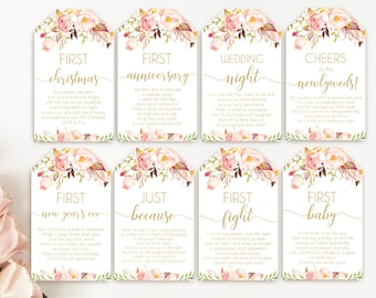 539d112f6167 Printable Bridal Shower Wine Tags with Poems for Wedding Gift Basket