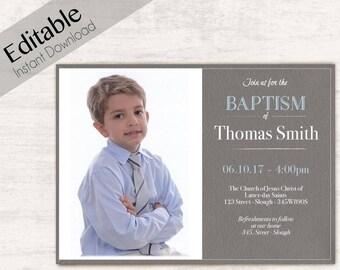 lds baptism invitation etsy