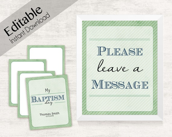Baptism Testimony Cards Printable, Baptism Note Cards, Baptism Boy, Boy LDS Baptism Cards Printable with Cover