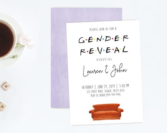 FRIENDS TV Show Gender Reveal Invitation, Editable Gender Reveal Invitation Template, Printable Boy or Girl Invitation, Editable PDF