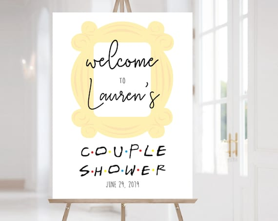 FRIENDS Welcome Sign Couple Shower, Template Couple Shower, Editable PDF, Welcome Couple Shower Sign FRIENDS tv show Couple Shower
