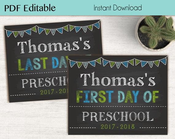 First Day of School / Last Day of School Chalkboard Print, Editable Text, DIY, Art Print, Chalkboard Sign, Kindergarten, Grade School