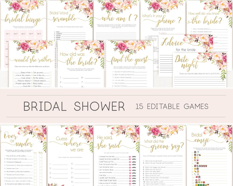 Bride know groom bridal shower game sexy bride pink