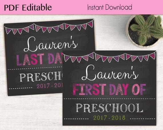 First Day of School / Last Day of School Chalkboard Print, PDF Editable, Art Print, Chalkboard Sign, Kindergarten, Grade, INSTANT DOWNLOAD