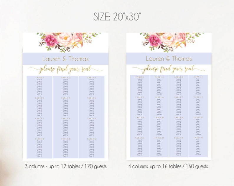 Editable Template editable seating chart   custom seating chart template for wedding  fiesta seating chart  INSTANT DOWNLOAD  Printable
