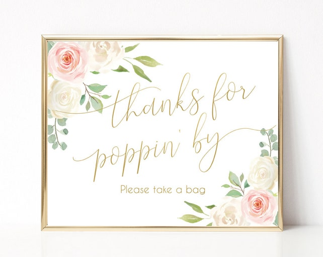 Thanks For Popping By Printable Sign Baby Shower Sign Wedding