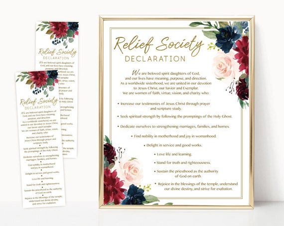 photo regarding Relief Society Declaration Printable named Aid Lifestyle Declaration, LDS Aid Tradition Electronic Printable, Quick Down load, Bookmark Aid Tradition Declaration.