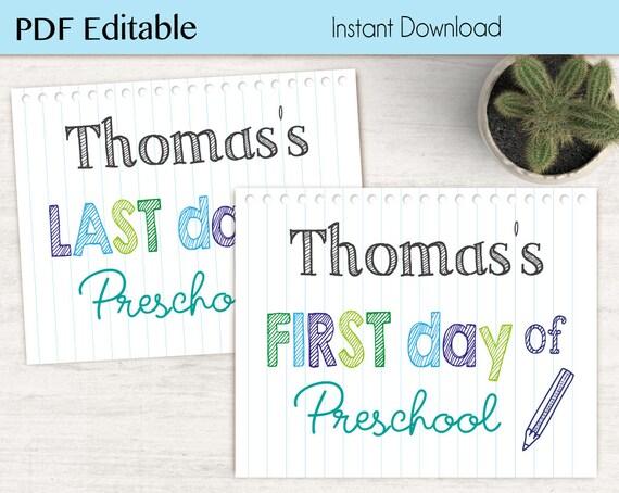 First Day of School / Last Day of School Chalkboard Print, Editable PDF, flower, Art Print, Chalkboard Sign, Kindergarten, Grade, whiteboard