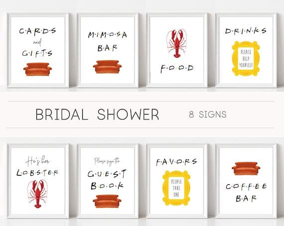 Friends Tv Show Bridal Shower Signs, Bachelorette Signs, Friends Theme, Shower Sign Set, Friends Signs, Friends Decor, Friends themed shower