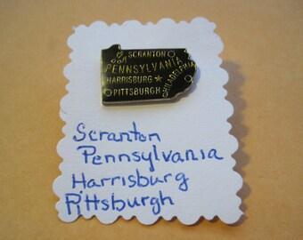 Scranton Pennsylvania Harrisburg Pittsburgh Philadelphia Lapel Pin