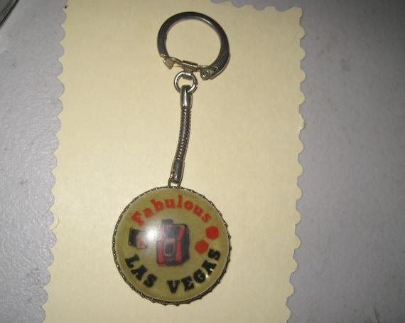 Vintage Las Vegas Keychain- Acrylic Fabulous Las V