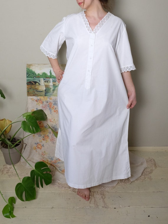 Antique Nightgown 1900s 1920s Vintage Nightgown Vi