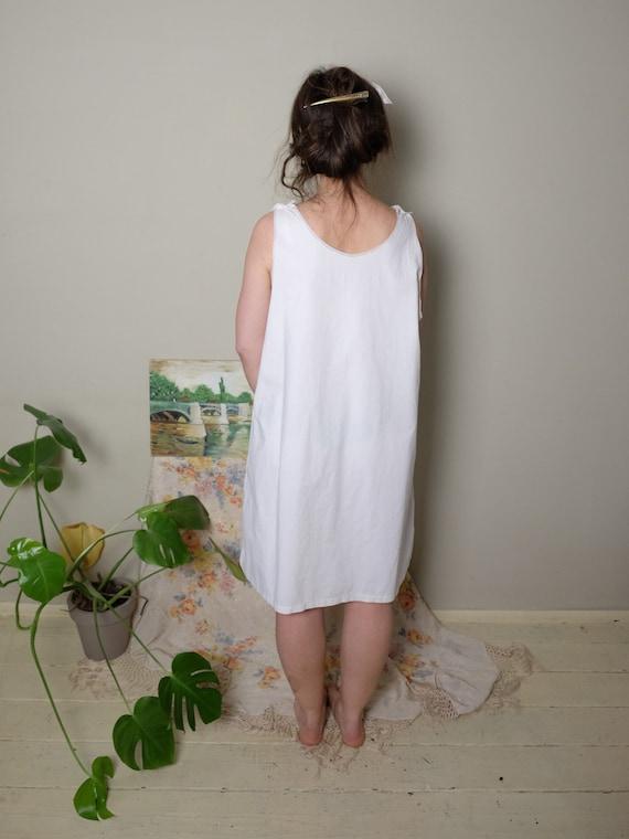 Antique Nightgown 1920s 30 40s Vintage Edwardian … - image 4