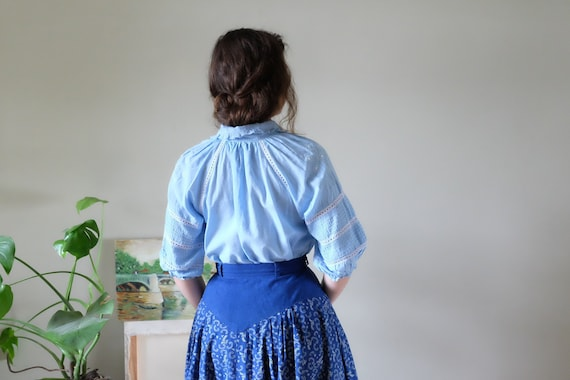 Chaco 70s blouse 70s Vintage peasant embroidered … - image 4