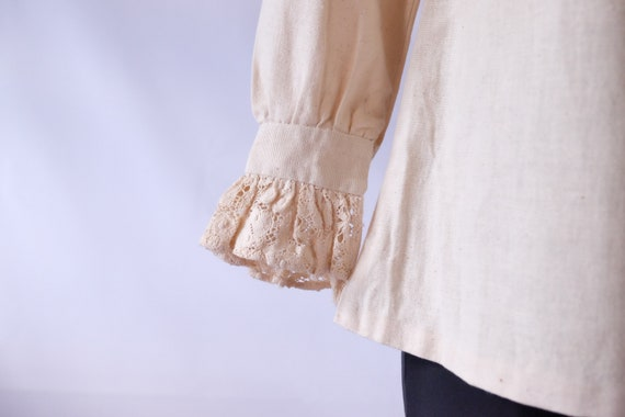 70s blouse 60s 70s Vintage Edwardian Prairie off … - image 7